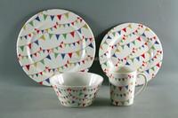 Porcelain Melamine Dinner Set Plastic Tableware Set