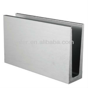 Aluminium glass channel Aluminum profile aluminum extrusion profile for glass railing