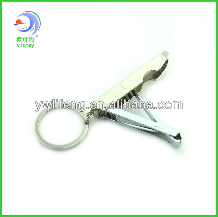 Hot sale CSKA engraved metal nail clipper with keychain for promotional gifts