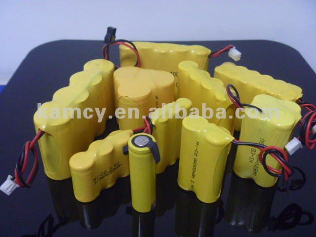 150mah ni-cd battery ni-cd 1/3aa150 rechargeable battey pack 4.8V 7.2V