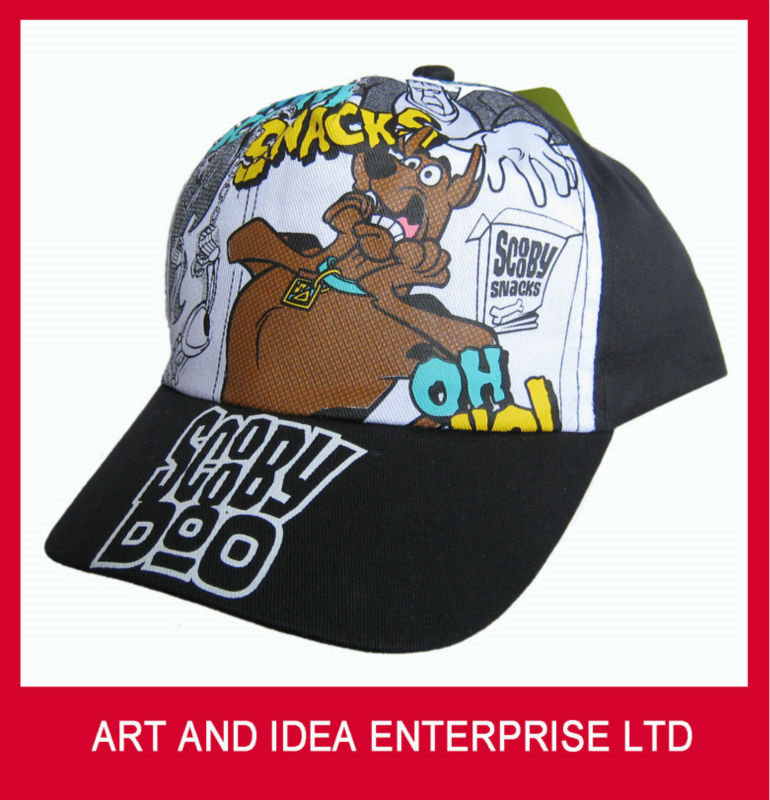 Scooby doo printed cartoon kids hats to decorate