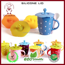 High quality ceramic mug silicon lid silicone tea cup lids silicone rubber coffee cup lid