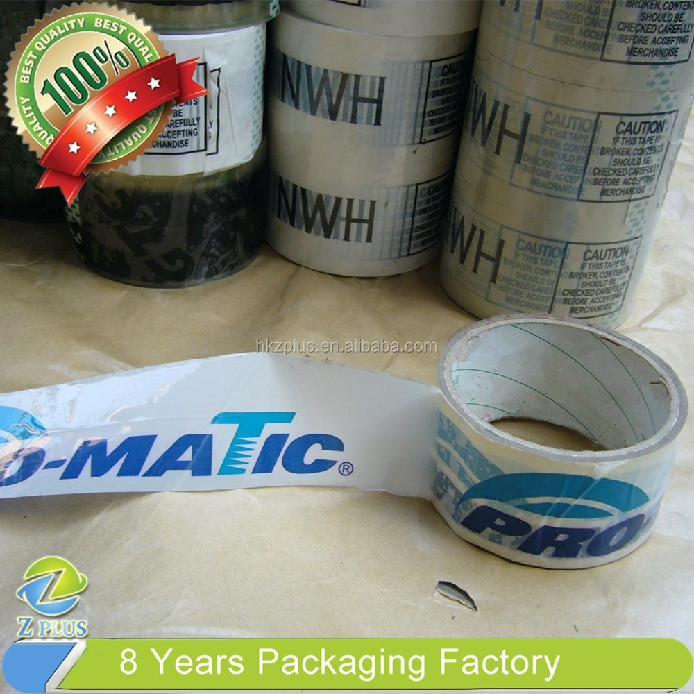 carton sealing bopp custom printed packing tape