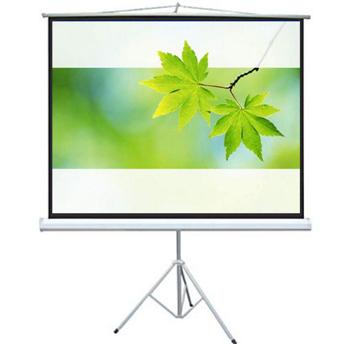 Floor stand portable white screen for projector