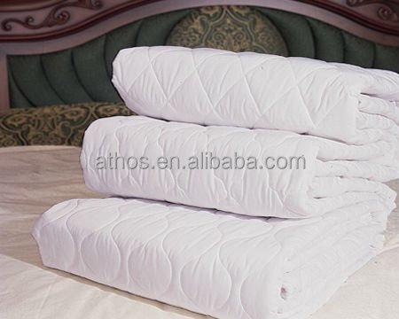 hotel high quality mattress protector /mattress pad/200x200cm with elastic band at 4 corners