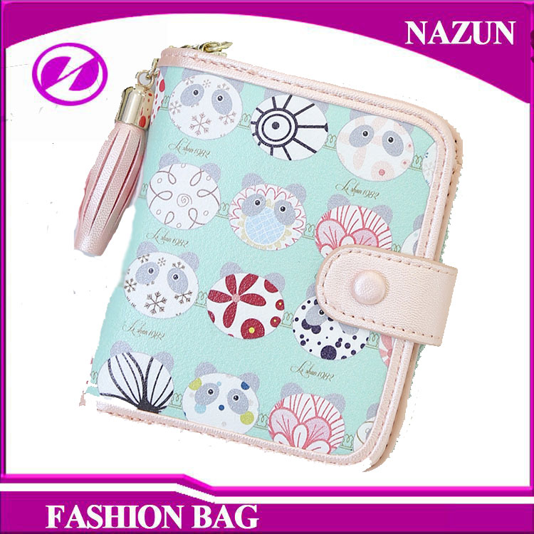 2016 New fancy Latest Design Ladies Hand Purse with Korean fashion small fresh sweet cartoon printing