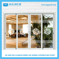 Good price four panel interior and exterior sliding doors