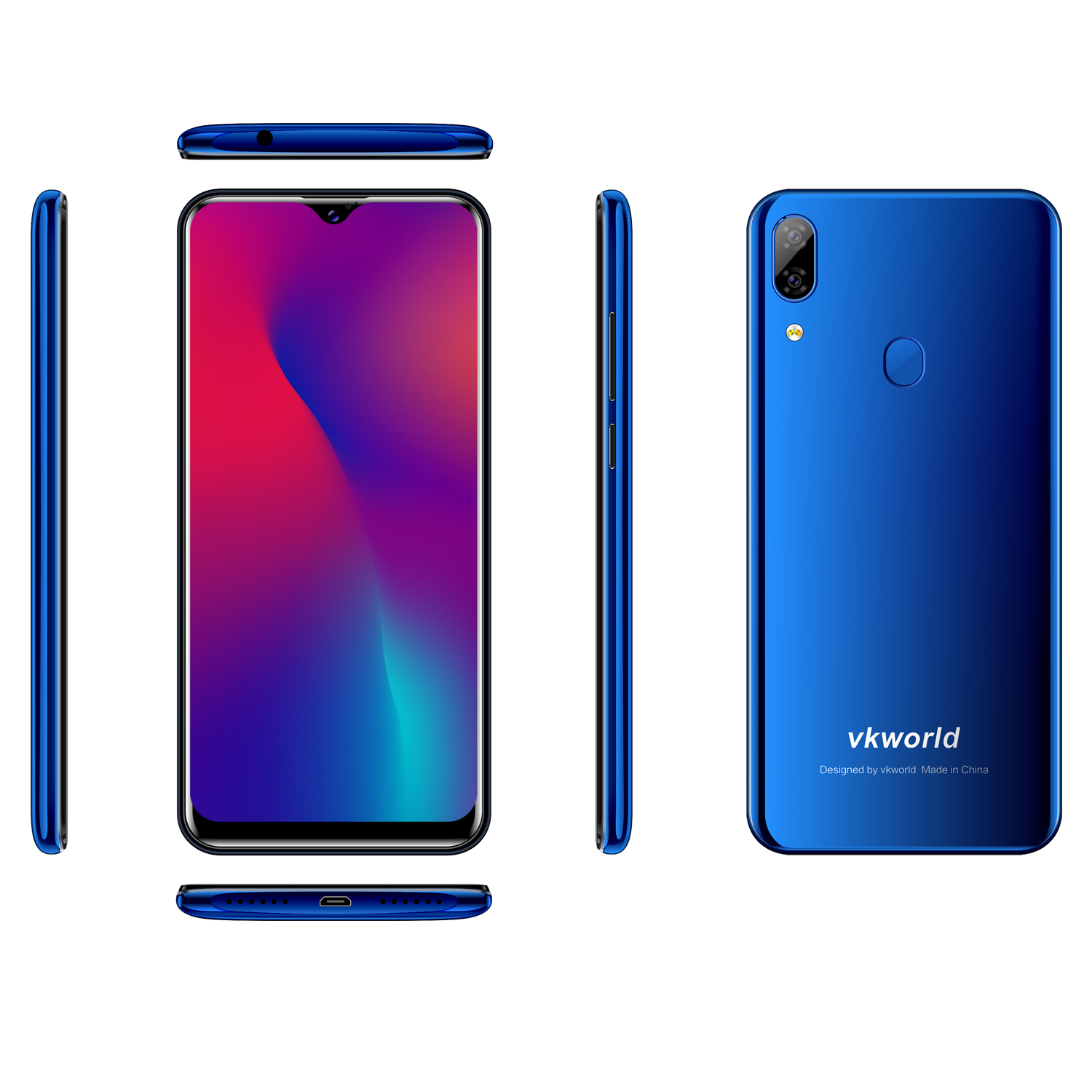 VKWORLD SD100 OEM Fingerprint Unlocked handphone Android 9.0  LTE 4G 3G+32G Mobile Phone