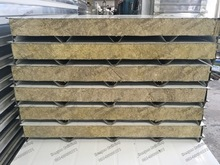Full Filled Overlap Easy Installed Fireproof Insulation Rockwool Sandwich Panel for Roof and Wall