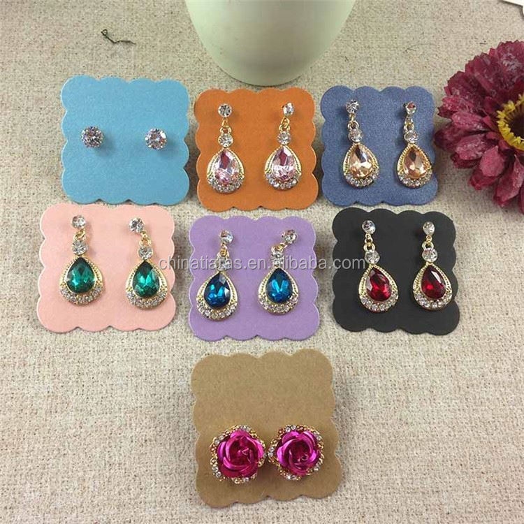 Top fashion custom design earring display card with printed logo with different size