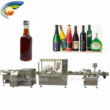 Small filling plant manufacturer line linear type glass bottle filling machine