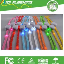2016 Hot Sales Nylon Material Flashing LED Shoelaces Light Up Glow Shoelaces