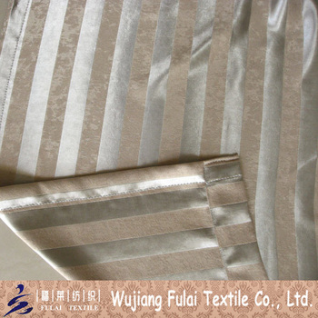 Polyester Velvet Stripe Suede Blackout Home Curtain Fabric