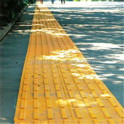 customized good elasticity outdoor tactile floor tiles for blindnman