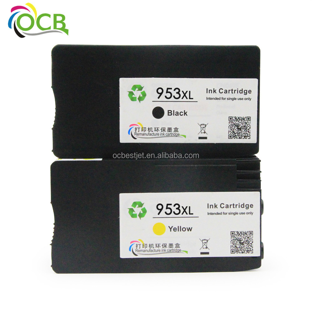 Ocbestjet Remanufactured Inkjet Ink Cartridge For HP 953 953xl Inkjet Printer Cartridge