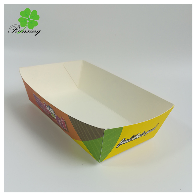 Disposable paper tray paper boat tray