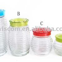 Glass Jar With Plastic Lid SG004