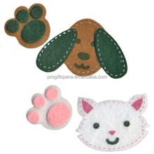 2017 new hot sales China handmade fabric kid paw print craft ornament wholesale felt decorative real looking dog cat animal toy