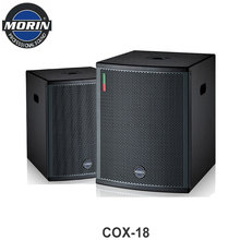 18 inch bass speakers subwoofer box design with coaxial horn 500w ohm for indoor & outdoor show Morin COX-18