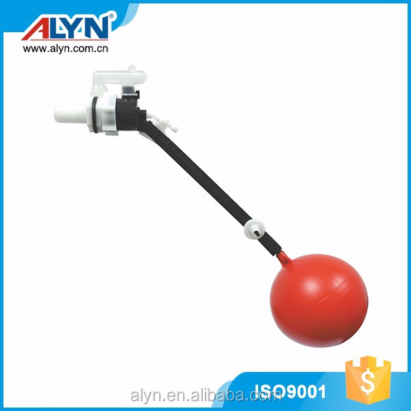 Toilet parts cistern fittings plastic side fill water storage tank float valve