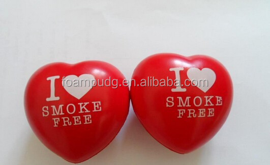 Cheap PU Promotional Heart Anti Stress Ball Toys/free sample heart stress ball