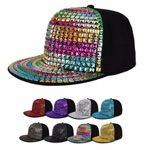 NEW Design Unisex Hip-Hop Crystal Ornament Baseball Cap Hip hop Cool hat Snapback