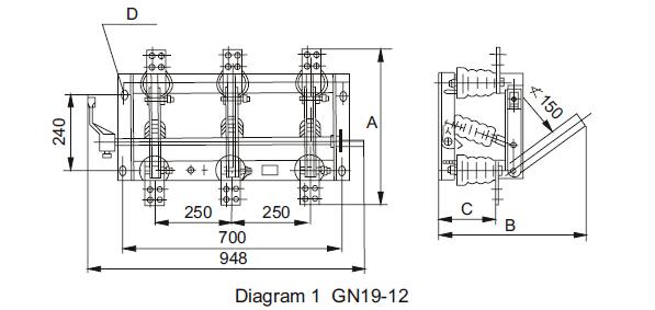 GN19-12 Outline dimension 01