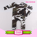 Fashionable custom design baby long sleeve infant romper onesie baby camo romper with hats