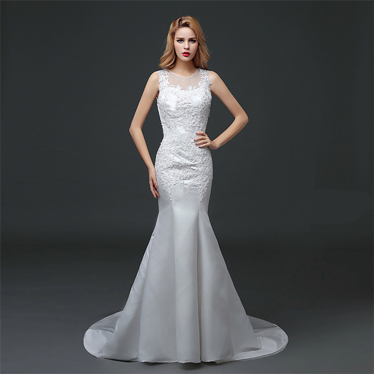 HS1609 2016 Latest Mermaid Long Train Bridal Wedding Dress Ball gown