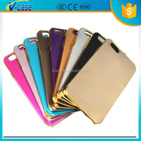 2015 new arrival mobile phone case with electroplating for iPhone 6 ,ultra thin PC hard case for iPhone 6
