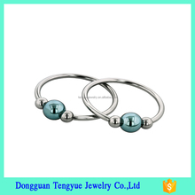 Anniversary Gift 316L Stainless Steel Circular Barbells Slave Ring Piercing Body Jewelry with Ball