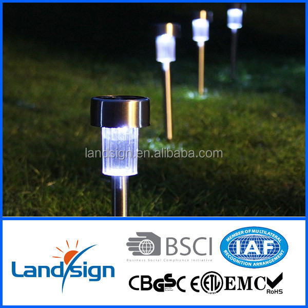 XLTD-936-2 china manufacturer Cixi cheap mini stainless steel white led garden light solar pathway light