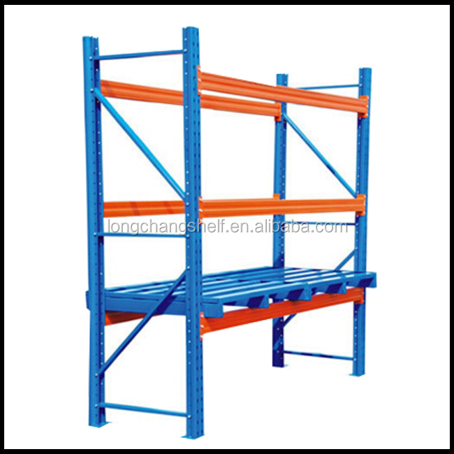 Galvanized Pallet Racking Blue And Orange Industrial Adjustable Pallet Racking System