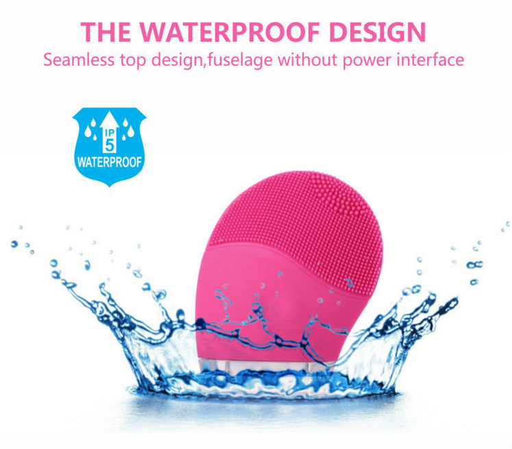 waterproof sonic facial brush with LED light