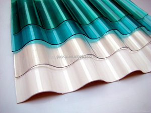 Corrugated plastic roof panels/Clear uv coating polycarbonate sheet/size cut rofing sheet