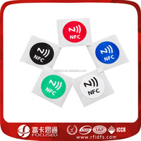Custom Glossy Paper/PET/PVC Printted 25mm Round Passive RFID Sticker/tag/label
