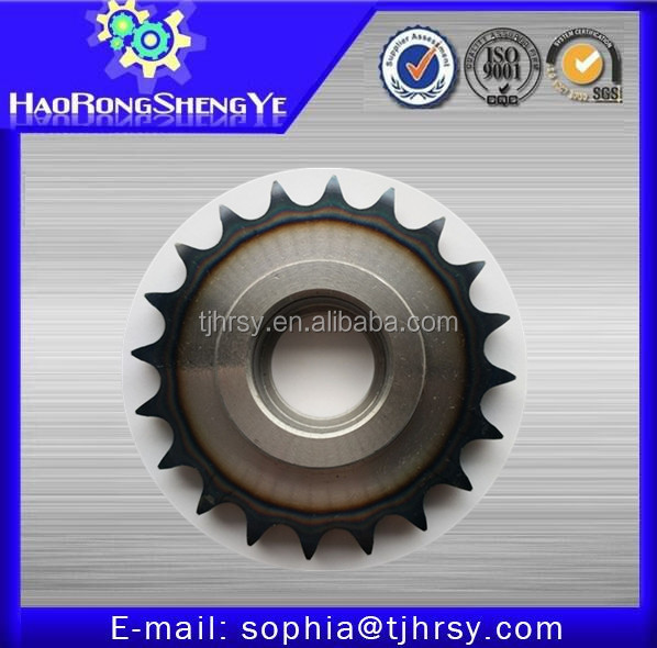 Standard roller chain sprocket with hardened teeth