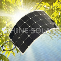 Hot sell low price light weight solar amorphous silicon solar panel 100w for RV / Boats