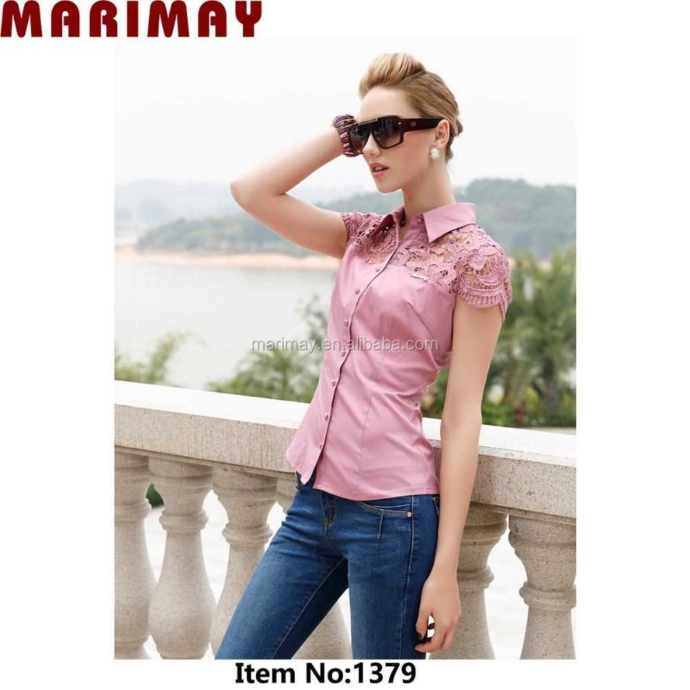 Lace top manufacturer OEM fashion lace woman top, top selling products in alibaba