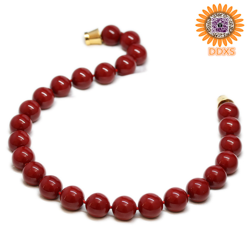 2016 old fashioned peace red pearl necklaces