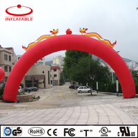 custom dragon decoration inflatable arch gate