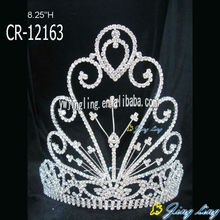 big all clear peacock rhinestone pageant crown for sale