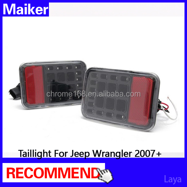 Rear bumper Taillamp/taillight for jeep lights rear light for jeep wrangler 2007+ 4x4 auto parts