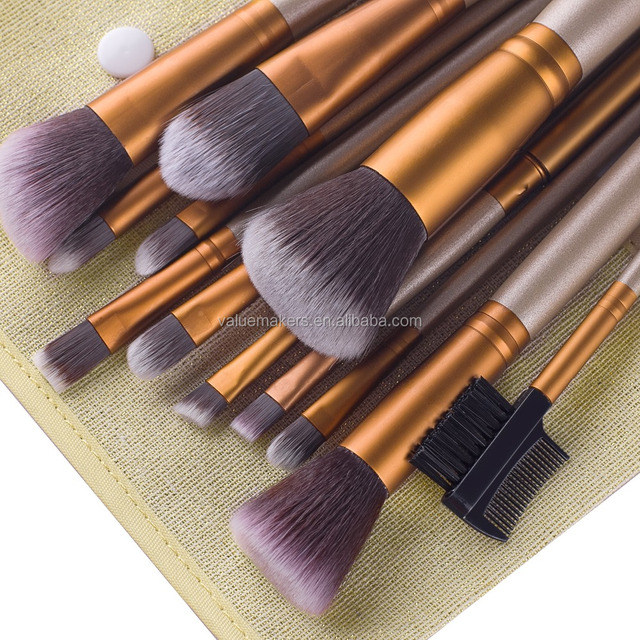 12pcs face brushes for makeup kit,cheap price makeup kit,wholesale airbrush makeup kit