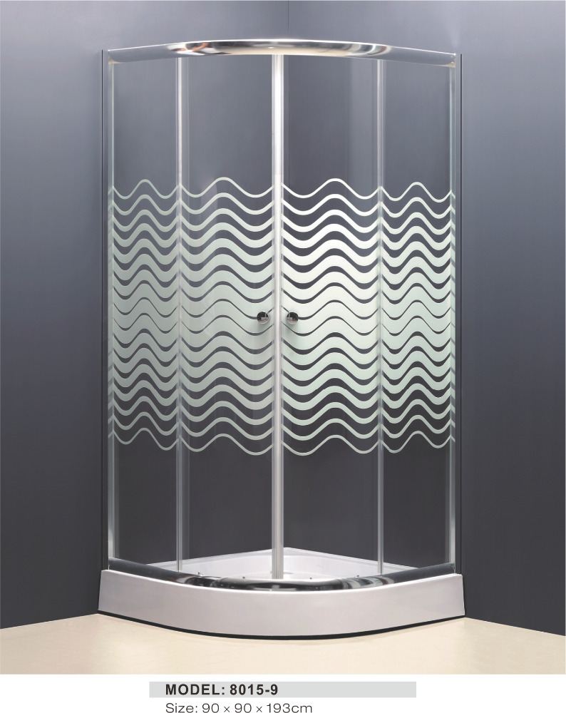 high quality temper glass outdoor shower room for western europe