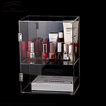 Weitu nail polish display case with lock acrylic display case wholesale cosmetic acrylic display case
