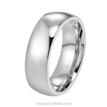 Factory Wholesale Cheap Minimalist Men Stainless Steel Jewellery Silver Dome Band Rings For Wedding