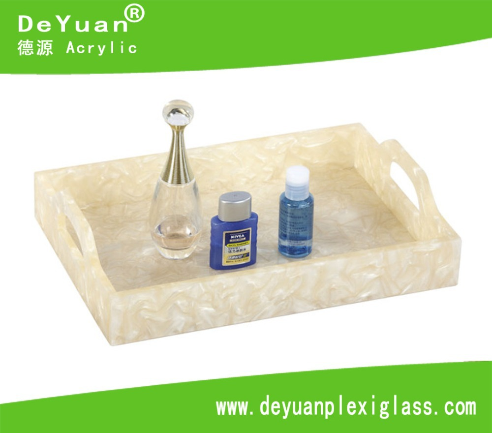 The high-end acrylic marble plate bracket / disc cosmetic box/Acrylic Tray In 3MM Thickness