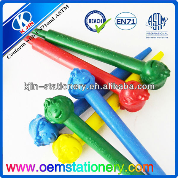 promotional stationery crayons customized /crayon touch pen with EN71 & ASTM Certification
