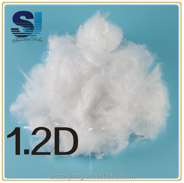 Making silk like quilt with polyester staple fiber 1.2D as Down Like